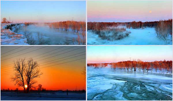 家乡的美景画画简单分享展示