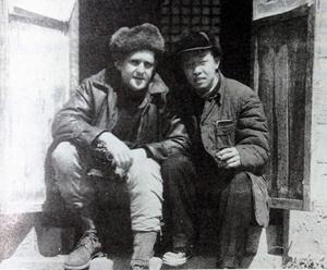 孔邁與維克多在山東萊陽郊外的招待所合影