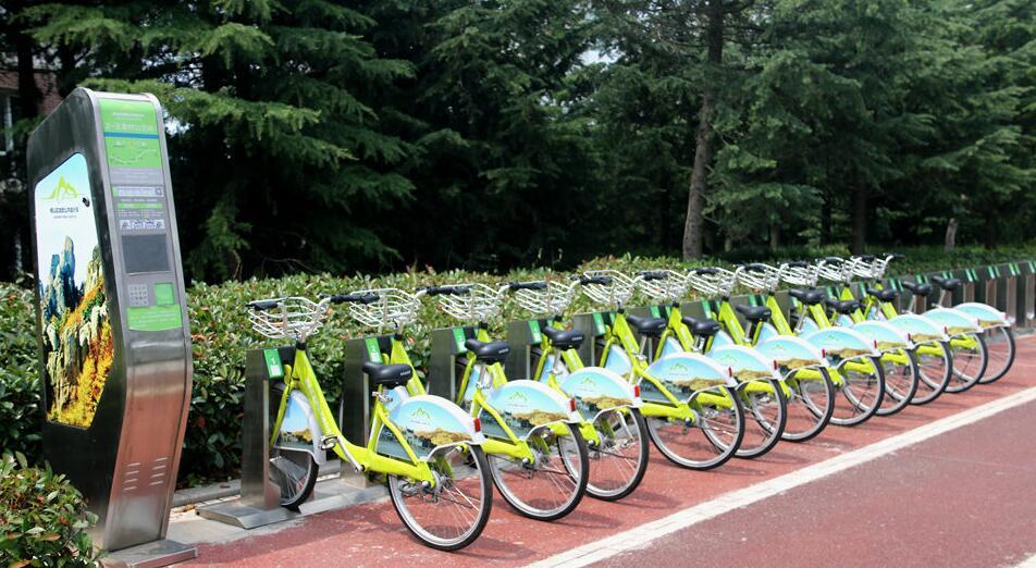 青島嶗山公共自行車 自助騎行暢遊嶗山