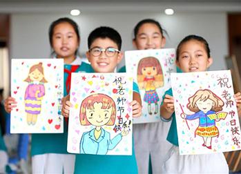 青岛小学生手工礼物 感恩老师图片