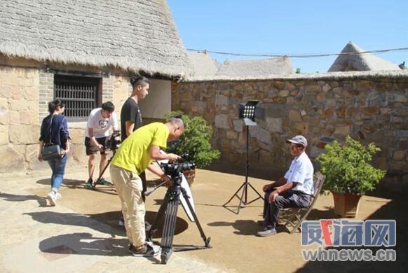 大型紀錄片《齊魯家風》到榮成石島拍攝