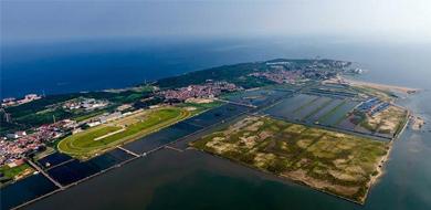 鳥瞰山東煙臺養馬島