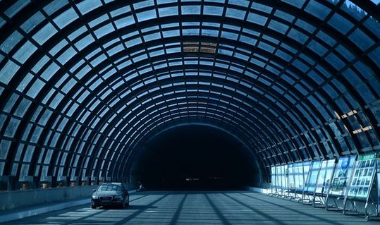 """山间隧道!济南首个""""阳光海底隧道""""建成"""