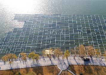 济南大明湖开建超级喷泉 总面积达1万平方米
