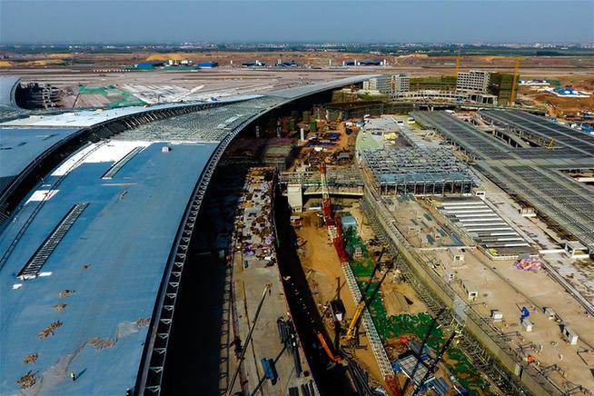 青岛胶东国际机场建设忙