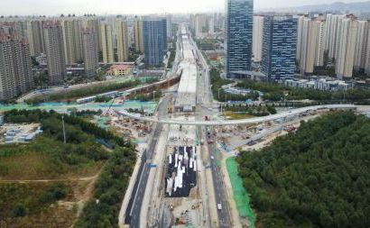 济南北园高架路如何与齐鲁大道交汇?
