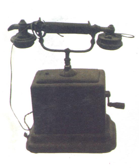 1911年使用的磁石电话机