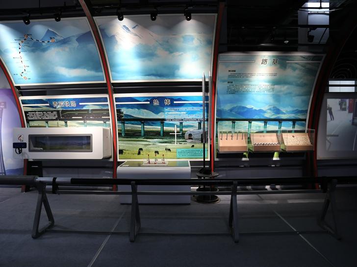 青藏铁路-路基、热棒模型