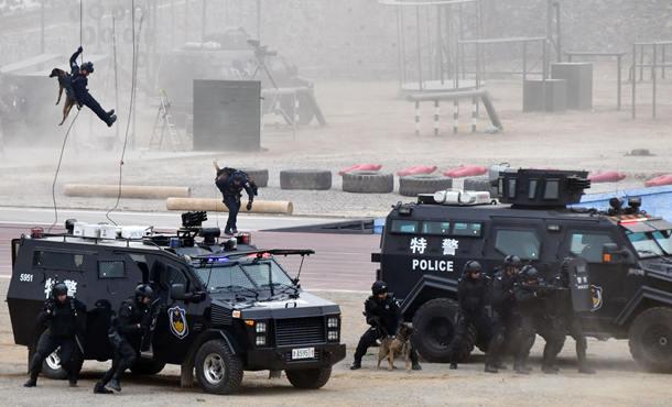 全國公安特警維穩處突實戰匯報演練在濟南舉行
