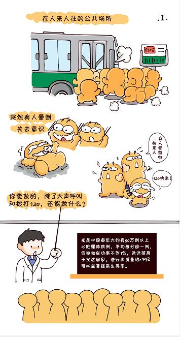 急救全民行 救心不揪心(漫画)