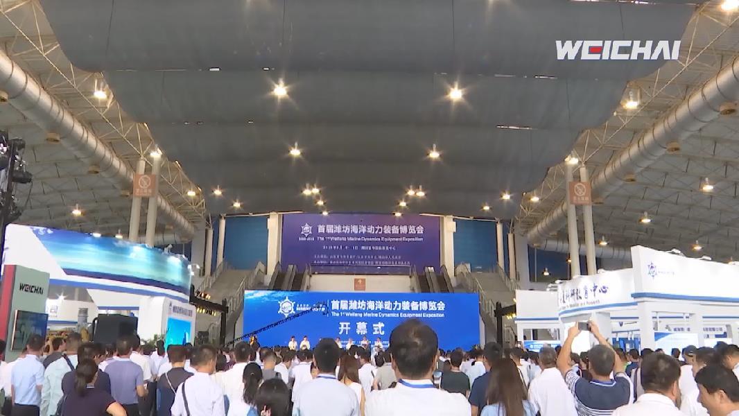 """""""蓝色引领 澎湃动力"""" 首届潍坊海洋动力装备博览会开展"""