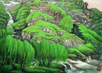 全國青綠山水畫名家作品展將于9月亮相泉城