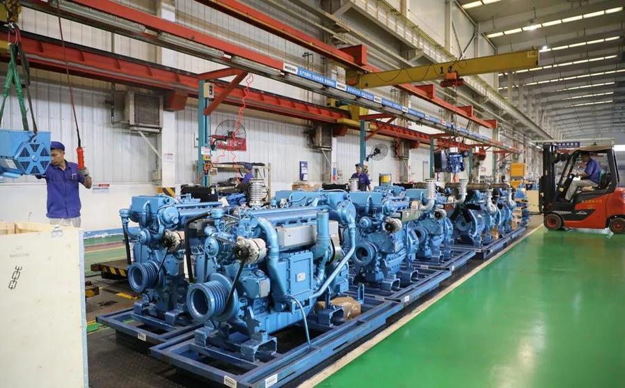 400多台潍柴发电机组陆续下线 交付沙特客户