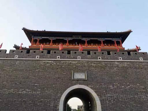 青州古城大门阜财门