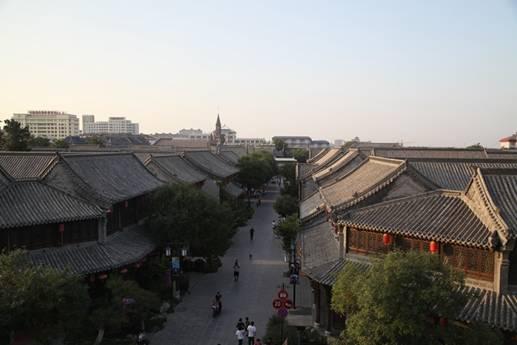 俯瞰青州古城