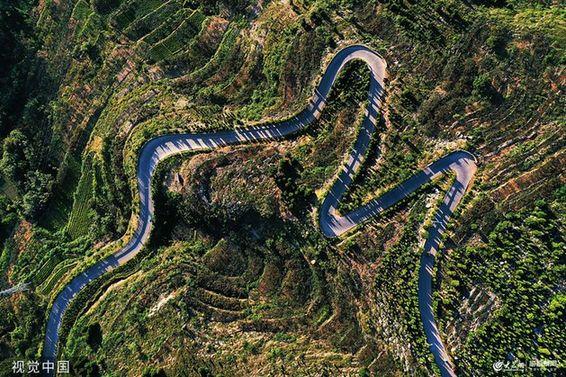 山東棗莊:盤山公路美如畫