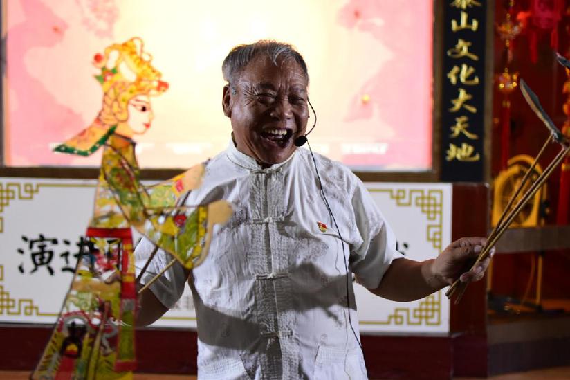"""泰山皮影文化:""""活化石"""" 传承六百年""""老树发新芽"""""""