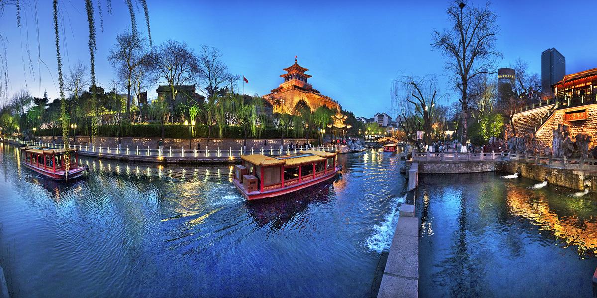 济南环城公园夜景