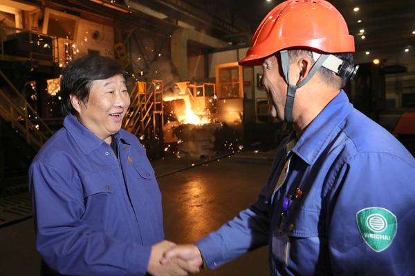 谭旭光:潍柴人要为山东经济发展做出更大贡献