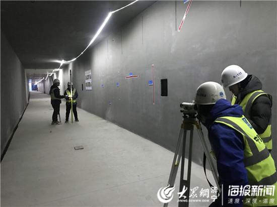 濟寧車站西路綜合管廊(lang)工程主體結構已完(wan)工