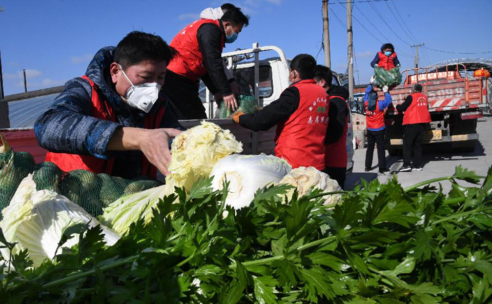 山东胶州筹集爱心蔬菜 捐赠支援武汉