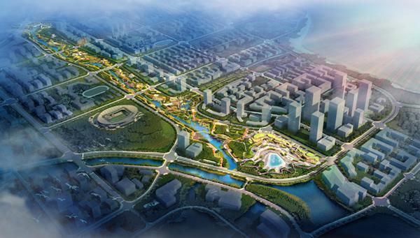 山(shan)東(dong)煙台八角灣中央創新區三大項目全部復工