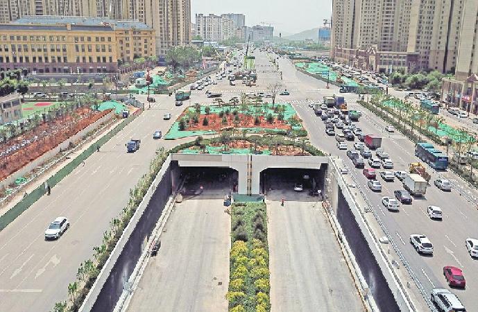濟南︰順河快速路南延隧道9月底前全線通(tong)車