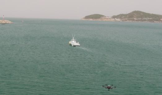 5G技术加持 无人机、无人艇亮相威海湾