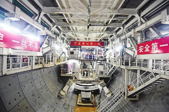 濟南黃河隧道東線掘(jue)進(jin)超千米