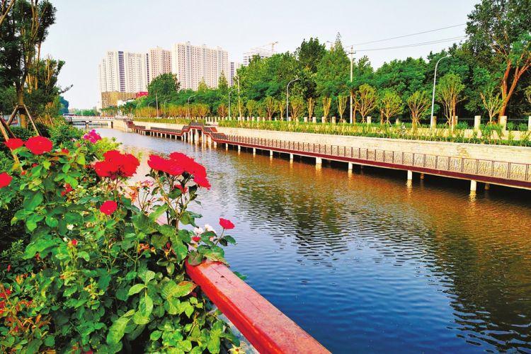 濟南興濟河華(hua)麗變身景觀河