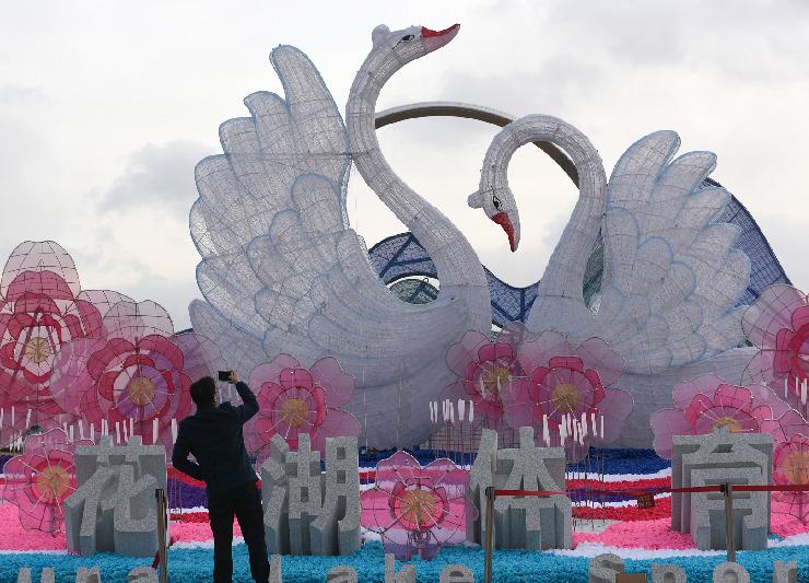 """博彩送体验金网站大全荣成""""天鹅戏水""""迎新春 增添祥和喜庆气氛"""